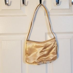 Mini gold satin purse